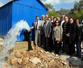 Milas;ın 20 yıllık su yatırımı tamamlandı