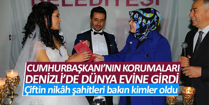 Recep Tayyip Erdoğan'nın korumaları Denizli'de dünya evine girdi