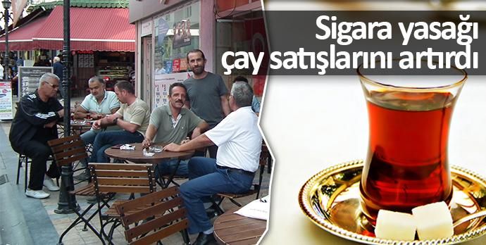 Sigara yasağı çay satışlarını artırdı