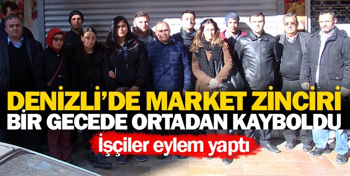 Denizli'de market zinciri bir gecede ortadan kayboldu
