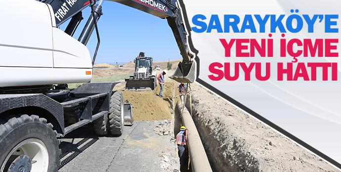 Sarayköy'e yeni içme suyu hattı