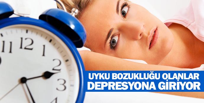Uyku bozukluğu olanlar depresyona giriyor