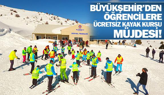 Büyükşehir'den öğrencilere ücretsiz kayak kursu müjdesi!