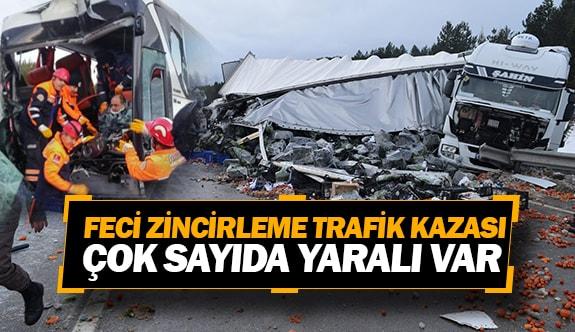 Feci zincirleme trafik kazası, çok sayıda yaralı var