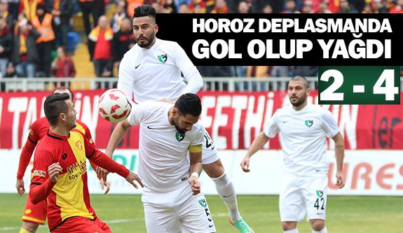 Horoz deplasmanda gol olup yağdı 2-4