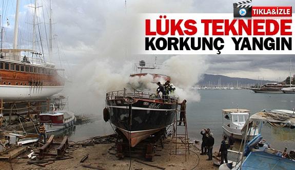 Lüks teknede korkunç yangın