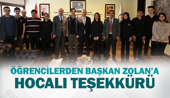 Öğrencilerden Başkan Zolan'a Hocalı teşekkürü