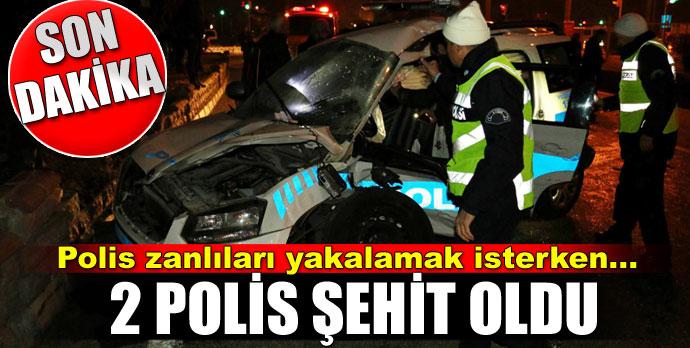 Şüpheli aracı kovalayan polis tankerle çarpıştı 2 polis şehit oldu
