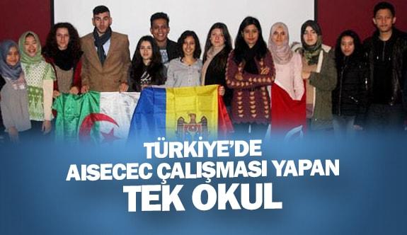 Türkiye'de AISECEC çalışması yapan tek okul