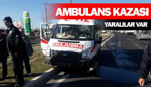 Ambulans kazası!  Yaralılar var!