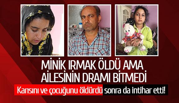 Karısını ve çocuğunu öldürdü sonra da intihar etti!