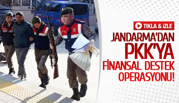 Jandarma'dan PKK'ya finansal destek operasyonu!