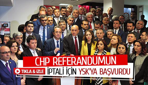 Chp referandumun iptali için YSK'ya başvurdu
