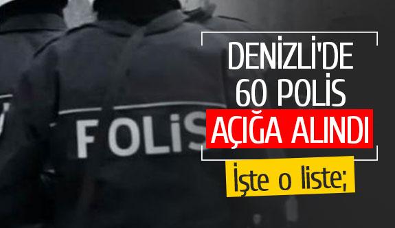 Denizli'de 60 polis açığa alındı