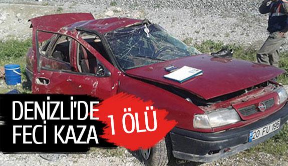 Denizli'de feci kaza:1 ölü