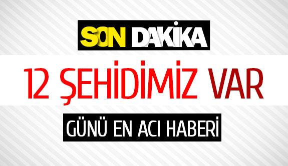 Tunceli'de helikopter düştü: 12 şehidimiz var