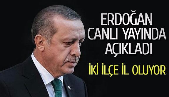 Erdoğan canlı yayında açıkladı