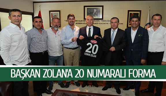 Başkan Zolan'a 20 numaralı forma