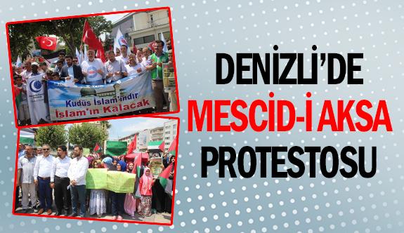 Denizli'de Mescid-i Aksa protestosu