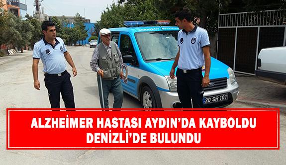 Alzheimer hastası Aydın'da kayboldu Denizli'de bulundu