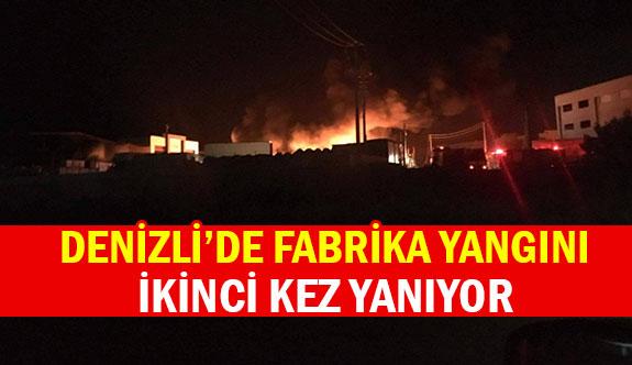 Denizli'de fabrika yangını