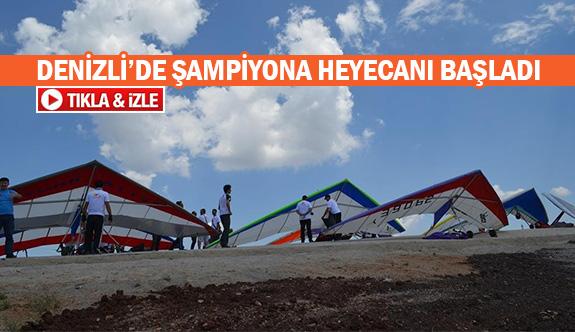 Denizli'de şampiyona heyecanı başladı