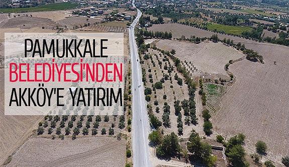 Pamukkale Belediyesi'nden Akköy'e yatırım