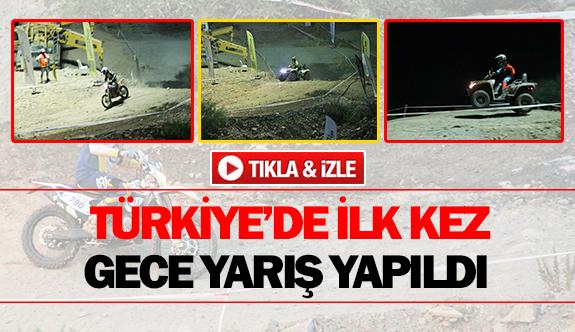 Türkiye'de ilk kez gece yarış yapıldı