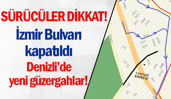 Denizli'de İzmir Bulvarı trafiğe kapatıldı
