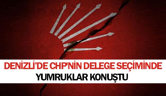 Denizli'de CHP'nin delege seçiminde yumruklar konuştu