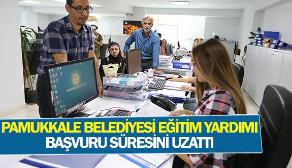 Pamukkale Belediyesi eğitim yardımı başvuru süresini uzattı