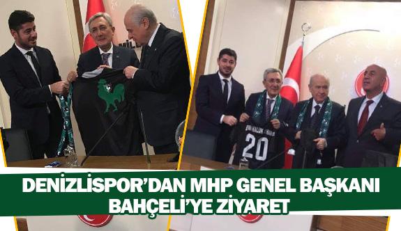 Denizlispor'dan MHP Genel Başkanı Bahçeli'ye ziyaret