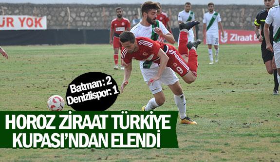 Horoz Ziraat Türkiye Kupası'ndan elendi