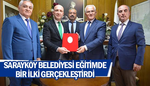 Sarayköy Belediyesieğitimde bir ilki gerçekleştirdi