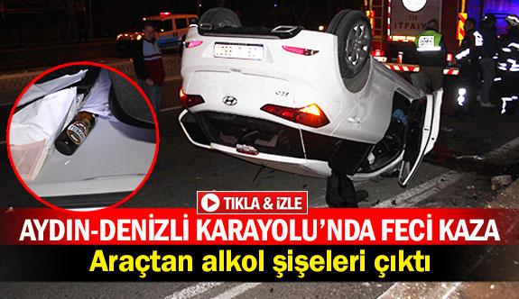 Aydın-Denizli Karayolu'nda feci kaza!