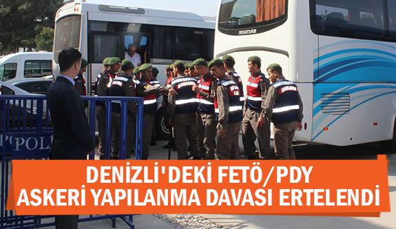 Denizli'deki FETÖ/PDY askeri yapılanma davası ertelendi