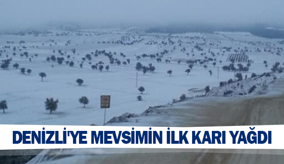 Denizli'ye mevsimin ilk karı yağdı