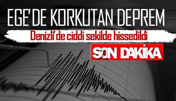 Ege'de korutan deprem