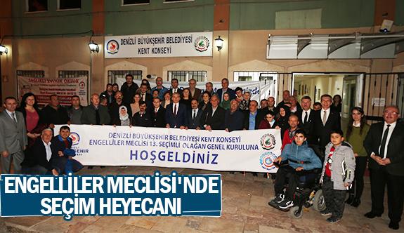 Engelliler Meclisi'nde seçim heyecanı