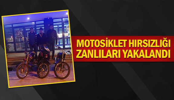 Motosiklet hırsızlığı zanlıları yakalandı