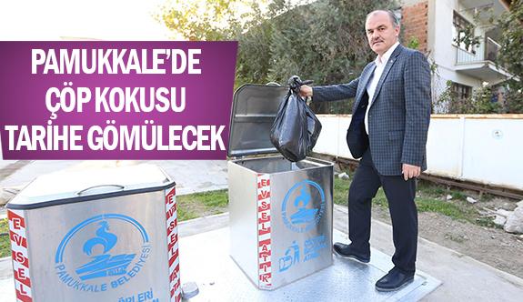 Pamukkale'de çöp kokusu tarihe gömülecek