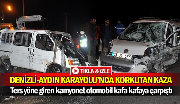 Denizli-Aydın Karayolu'nda korkutan kaza