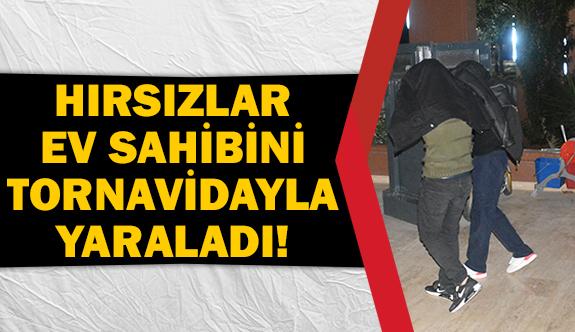 Hırsızlar ev sahibini tornavidayla yaraladı!