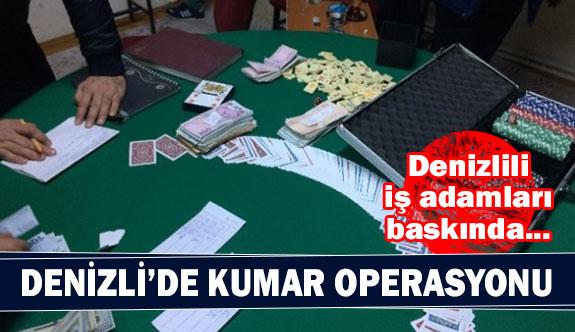 Denizli'de kumar operasyonu