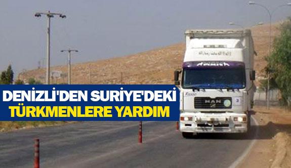 Denizli'den Suriye'deki Türkmenlere yardım