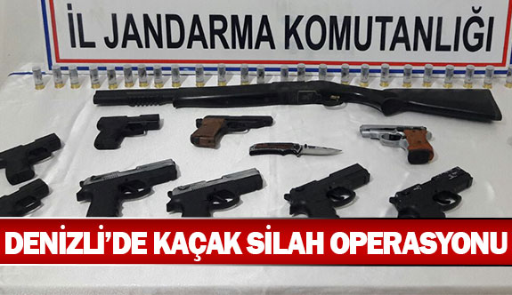 Denizli'de kaçak silah operasyonu
