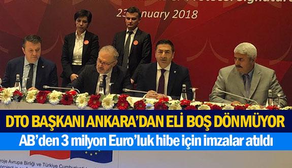 DTO Başkanı Ankara'dan eli boş dönmüyor