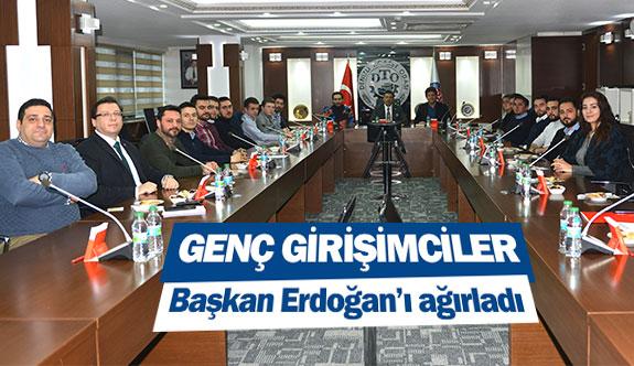Genç girişimciler Başkan Erdoğan'ı ağırladı
