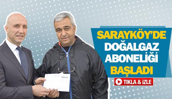 Sarayköy'de doğalgaz aboneliği başladı