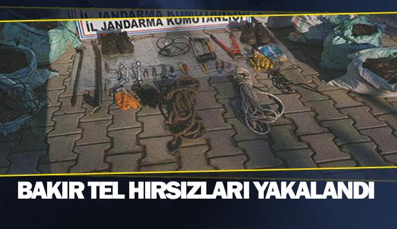 Bakır tel hırsızları yakalandı